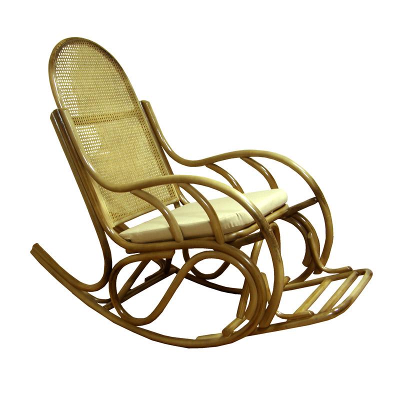 Кресло качалка из ротанга   магазине