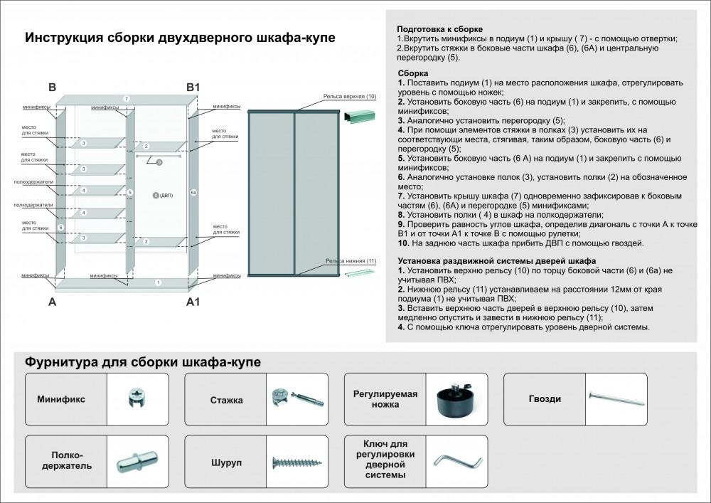 инструкция по сборке шкаф фортуна