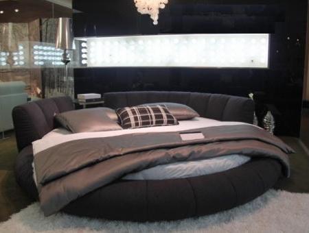 круглая кровать кровать кожаная круглая кровать круглая с мягким