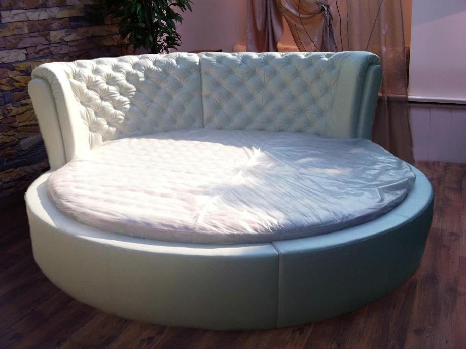 кровать кожзам круглая натали круглая кожаная кровать круглые